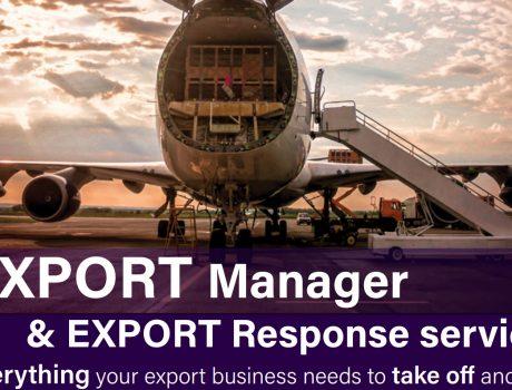 Export Manager information flyer