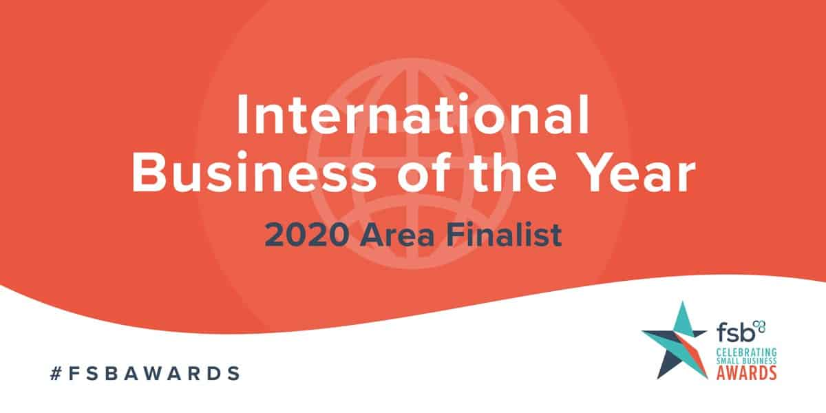 Shortlisted for International Business of the Year!
