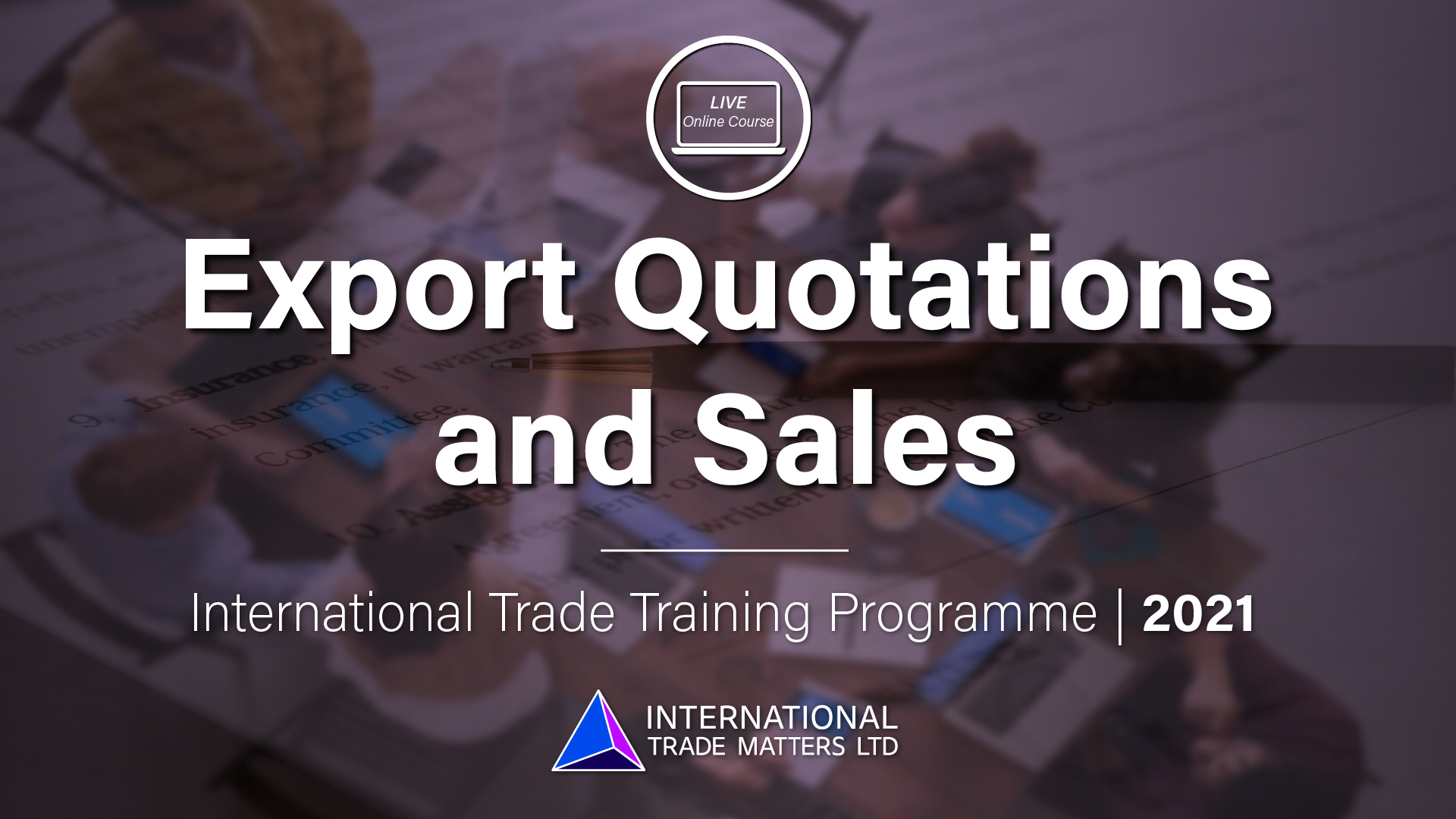 Export Quotations & Sales – An Online Course