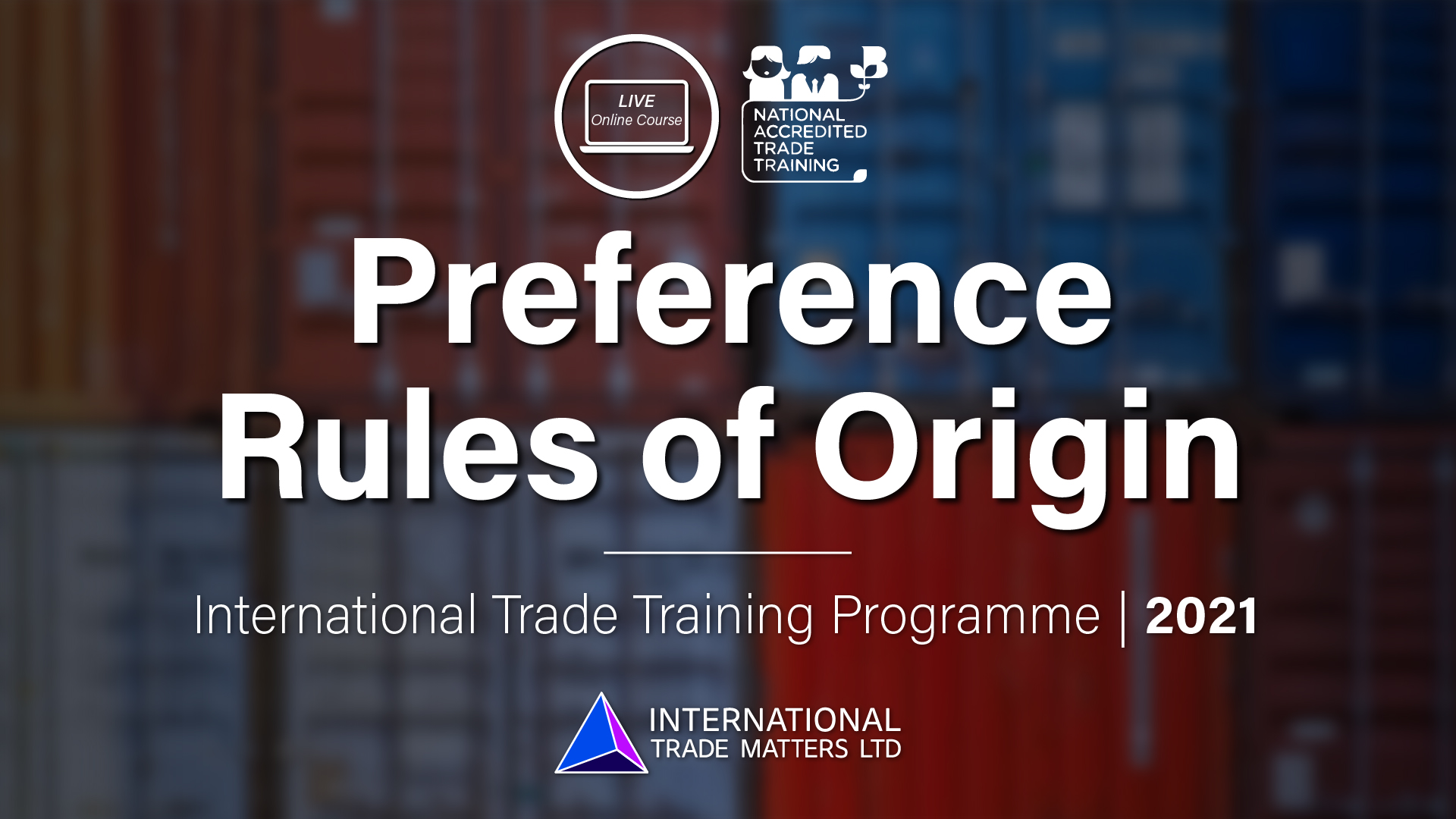 Preference Rules of Origin – An Online Course